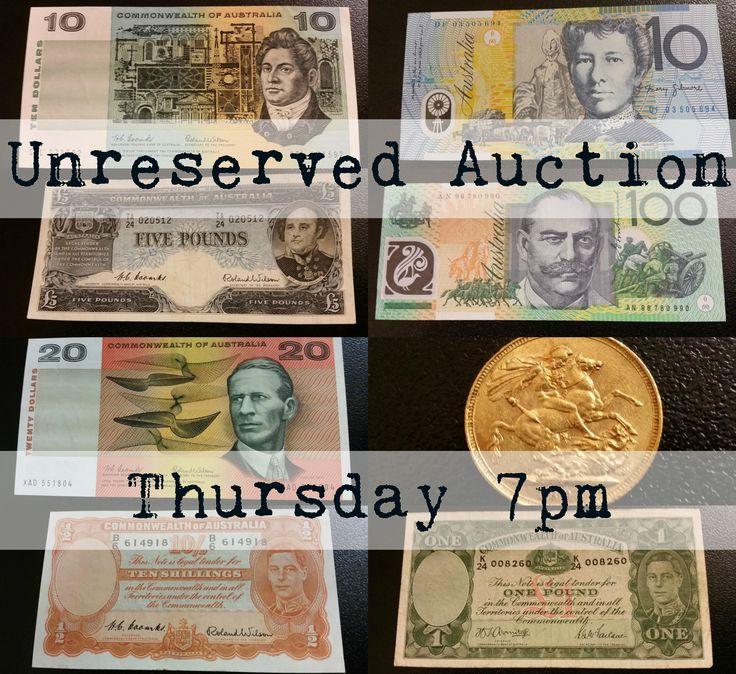 *UNRESERVED* Banknotes & Coins, Closing Thursday 7pm - View here: https://www.lloydsonline.com.au/AuctionLots.aspx?smode=0&aid=7158&pgn=1&pgs=100&gv=True&utm_content=buffer3b769&utm_medium=social&utm_source=pinterest.com&utm_campaign=buffer