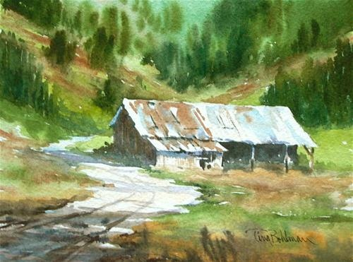 """In the Foothills"" - Original Fine Art for Sale - © Tina Bohlman: Tina Bohlman, Watercolor, Donna S Favorite, Fine Art, Favorite Artwork"