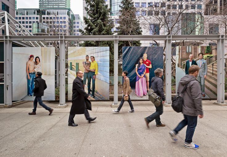 Richard Renaldi's Photography Blog: Touching Strangers Public Installation in Toronto @ Metro Hall