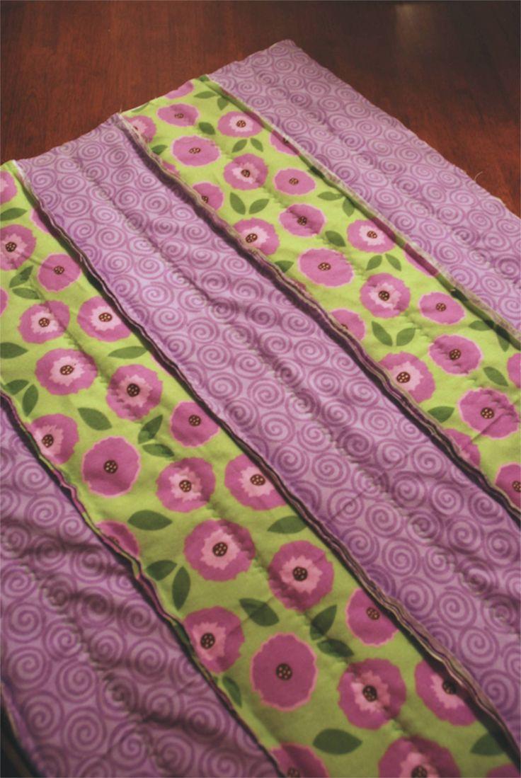 Flannel Baby Quilt Rag Strip Quilt