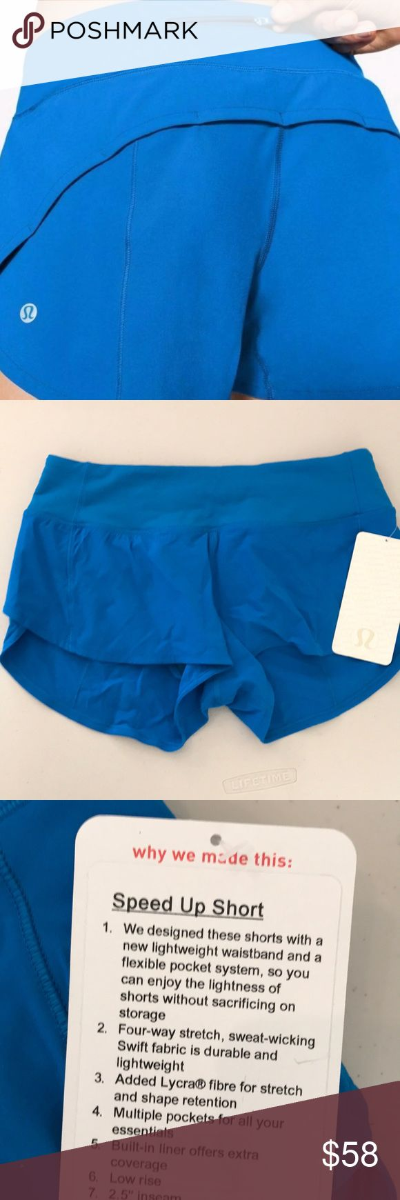 NET AMLF LULULEMON SPEED UP SHORT BLUE - - Size 4 Brand: Lululemon Athletica speed up shorts 2.5 inch inseam   Condition: New with tag || Size 4 || AMLF Amalfi Blue     📌NO  TRADES  🛑NO LOWBALL OFFERS  ⛔️NO RUDE COMMENTS  🚷NO MODELING  ☀️Please don't discuss prices in the comment box. Make a reasonable offer and I'll either counter, accept or decline.   I will try to respond to all inquiries in a timely manner. Please check out the rest of my closet, I have various brands. Some new with…