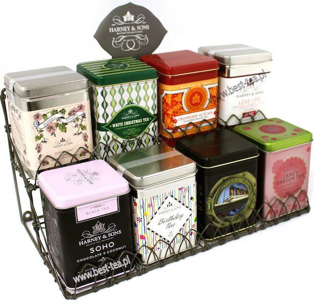 Herbaty aromatyzowane i puszki na herbatę