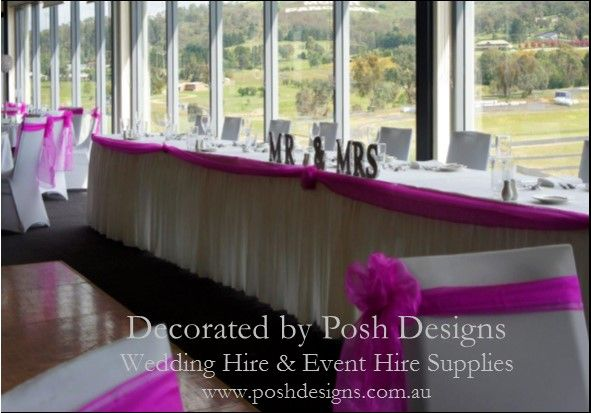 #Pink bridal swagging #White skirting - #wedding and #event #theming available at #poshdesignsweddings - #sydneyweddings #countryweddings #southcoastweddings #wollongongweddings #ruffledsashes #weddingsashes All stock owned by Posh Designs Wedding & Event Supplies – lisa@poshdesigns.com.au or visit www.poshdesigns.com.au or www.facebook.com/.poshdesigns.com.au #Wedding #reception #decorations #Outdoor #ceremony decorations #Corporate #event decoration #Fundraising event decoration…