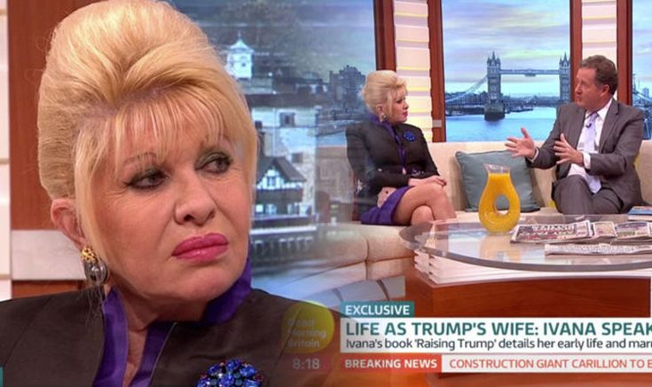 IVANA TRUMP has appeared on Good Morning Britain to talk about Donald Trump, their marriage and divorce..jan18