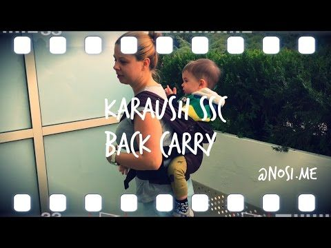 Karaush baby carrier, back carry