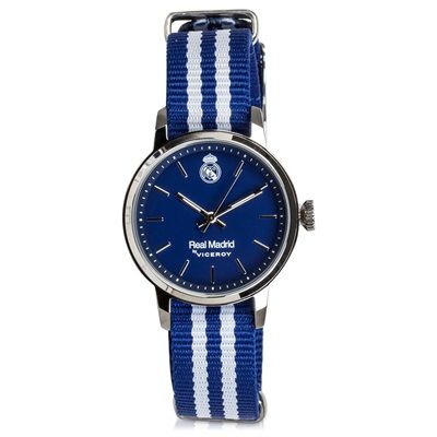 Image of Real Madrid Fashion Stripe Watch - Blue-White