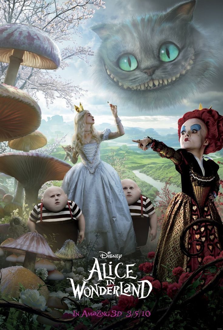 Pin By Juliana Rakoza On Tim Burton Alice In Wonderland Poster Adventures In Wonderland Alice In Wonderland