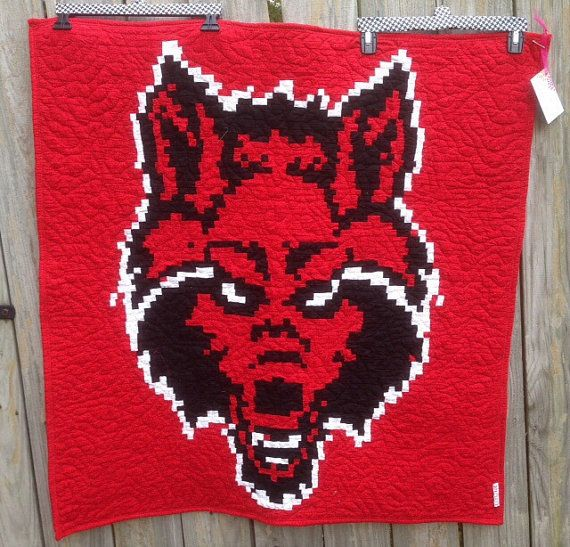 Redwolf Wall Hanging Or Baby Quilt Asu Sale By