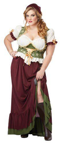 California Costumes Women's Plus-Size Renaissance Wench Plus, Burgundy/Green, 2X California Costumes http://smile.amazon.com/dp/B00DCCT14O/ref=cm_sw_r_pi_dp_dGYIwb0T4CRJH