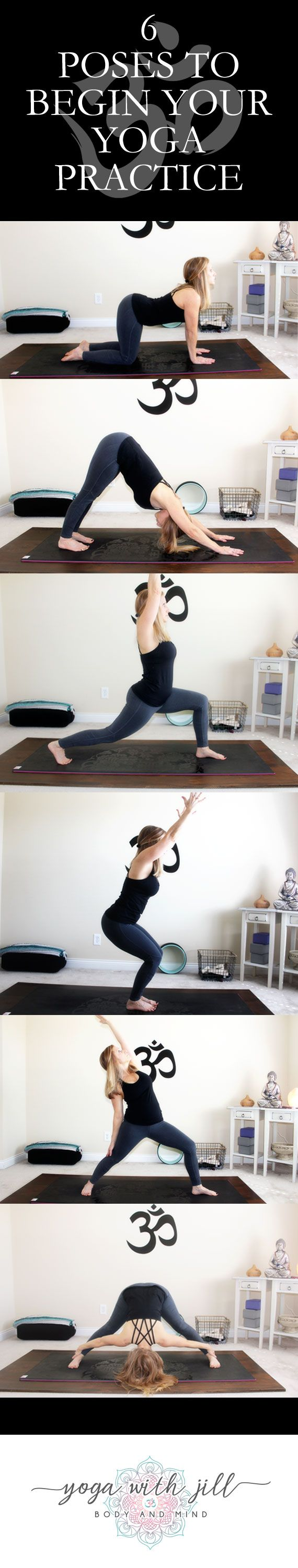 Ignite your best life through yoga, on and off the mat. This is about all of us, thriving and growing together. There are over 300 poses in the physical practice of yoga and I've chosen 6 poses to get you started on the right path. If you enjoy music for your practice, try this playlist. It's one of my favorites. Click through to http://jillconyers.com to download the pose guide and listen to the yoga playlist. Pin it now, practice later.