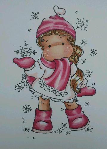 Magnolia Wonderful Winter Tilda (ltd ed) coloured card topper