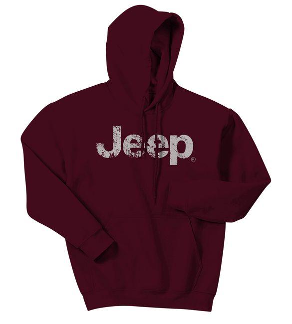 Jeep Distressed Logo Hooded Sweatshirt