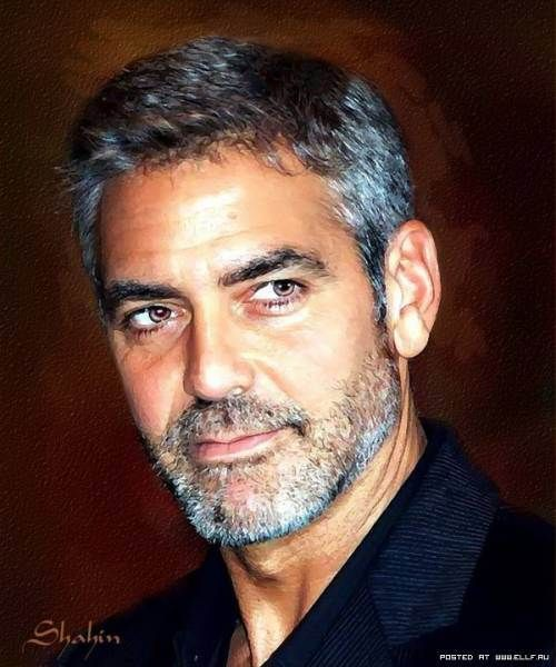George Clooney - portrait by Shahin