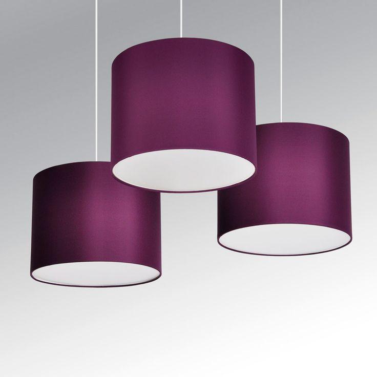 Ceiling Lights Tesco Direct : Set of modern purple plum ceiling lights pendant light