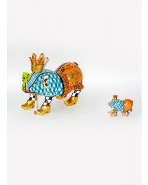 Escultura Porco King Louis - Thomas Hoffman #tomsdrag #thomashoffman #decoracao #escultura #amandapresentes #porco #kinglouis