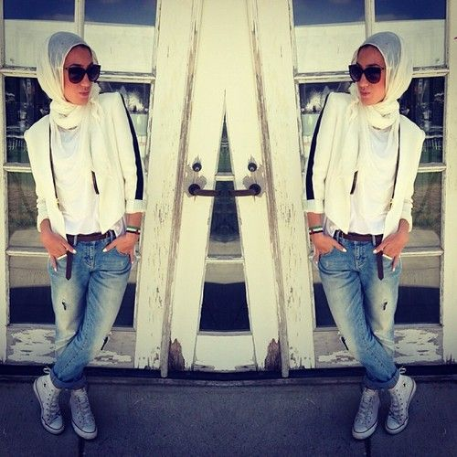 Mirror Beauty effect<3# Casual Street Hijab<3