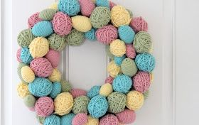The Sweet Survival: Yarn Egg Wreath