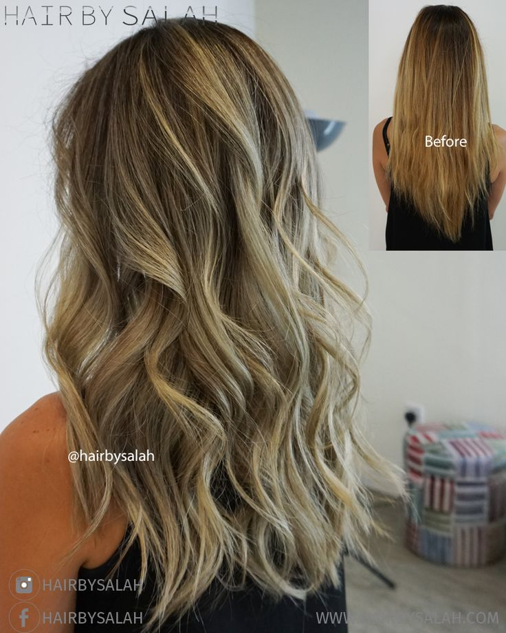 Before and After – Soft Light Ash-Blonde from Hair By Salah – Lived in Color Tea…