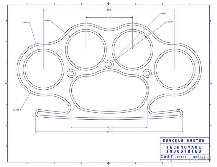 brass knuckles diagram 12 volts battery charger circuit knuckle duster blue schematic art print by aromis tools pinterest schlagring and waffen