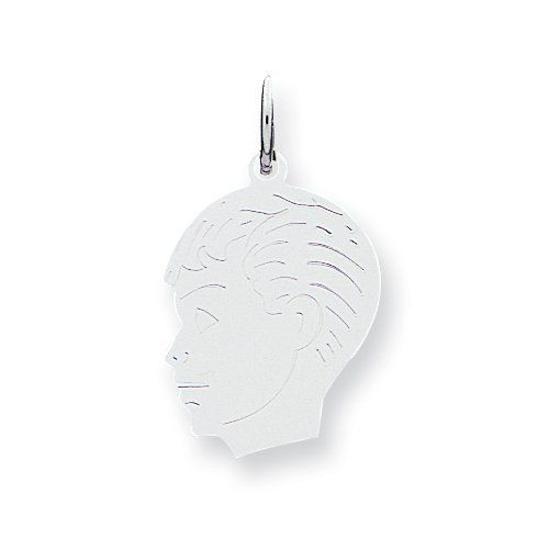 Sterling Silver Engraveable Boy Disc Charm Gauge 18 Real Goldia Designer Perfect Jewelry Gift goldia. $14.83