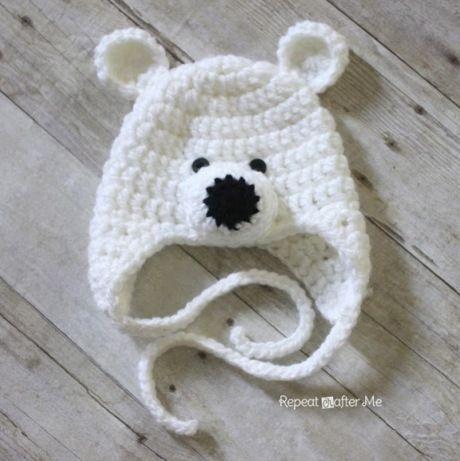 Шапка «Полярный мишка» крючком Свяжите своему ребенку оригинальную шапку крючком. Такой точно ни у кого не будет! Схемы вязания шапок Полярный мишка на разные размеры головы опубликованы в данной статье.