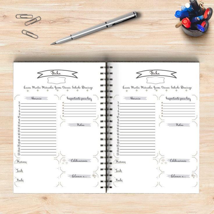 100 best agenda images on Pinterest Bullet journal, Day planners - agenda