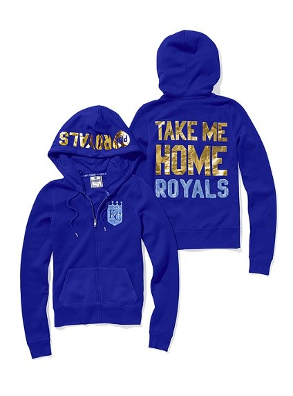 Kansas City Royals Bling Zip Hoodie - Victoria's Secret Pink® - Victoria's Secret
