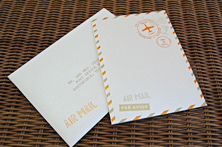 Airmail Wedding Invitations: 371 Best Wedding Stationery- Menus, Save The Dates