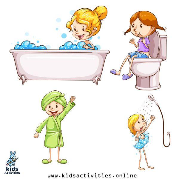أدوات النظافة الشخصية للأطفال للتلوين اوراق عمل النظافة بالعربي نتعلم Islamic Kids Activities Islam For Kids Activities For Kids