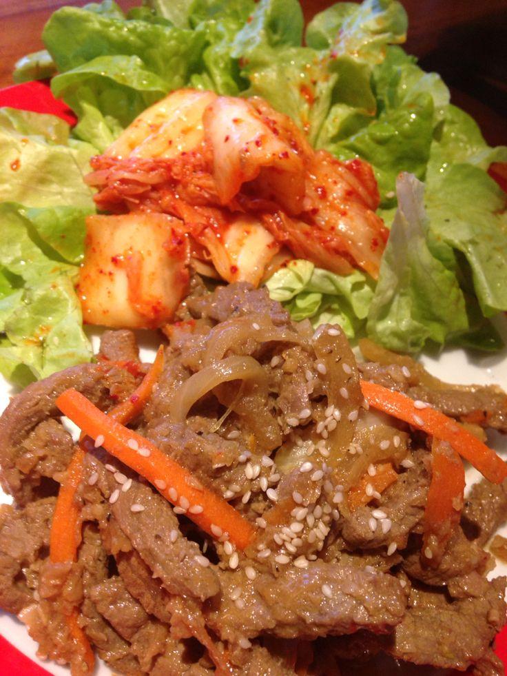 Beef Bulgogi with kimchi