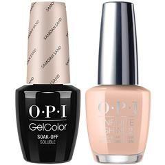 OPI GelColor Samoan Sand #P61 + Infinite Shine #P61