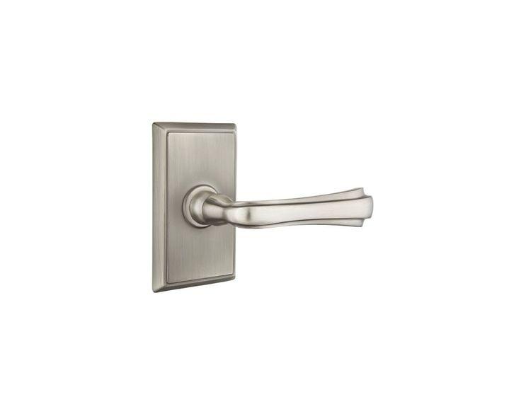 Emtek C820WM Wembley Brass Modern Privacy Door Leverset with the CF Mechanism Pewter Leverset Privacy