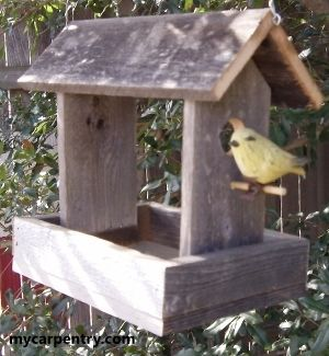 Homemade Birdhouses and Feeders | Found on mycarpentry.com