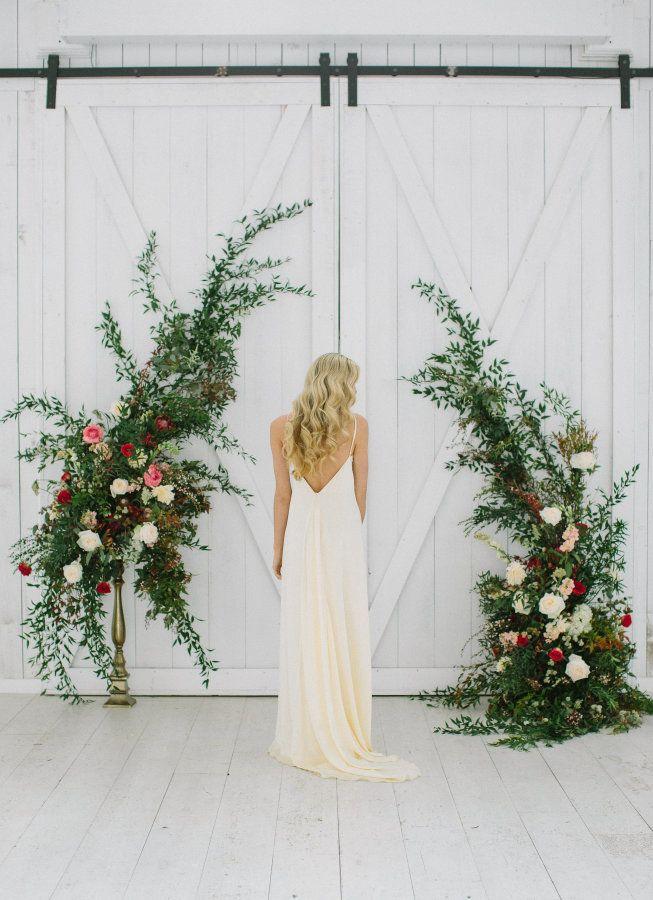 Elegant sheath wedding dress: http://www.stylemepretty.com/2017/03/08/garden-of-eden-inspired-shoot-ending-in-a-real-surprise-proposal/ Photography: Ellen Ashton - http://www.ellenashton.com/