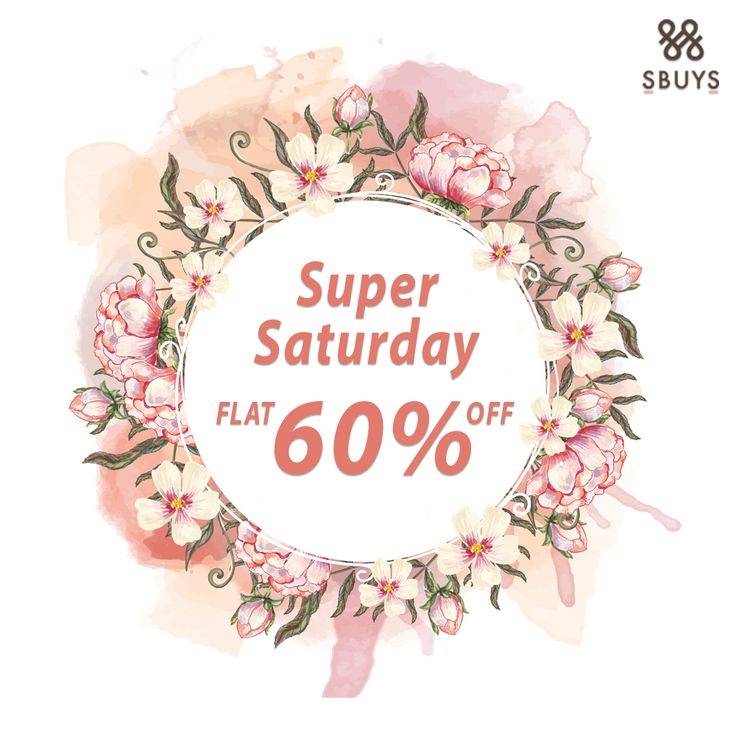"""Super Saturday"" Hold onto Super Saturday Flat 60% off Sale on @ http://www.sbuys.in  #sbuys #womenswear #sale #discounts #stylediva #latesttrends #fashionistas #newcollection #elegant #urbanstylewear #springseason #huesandtints"