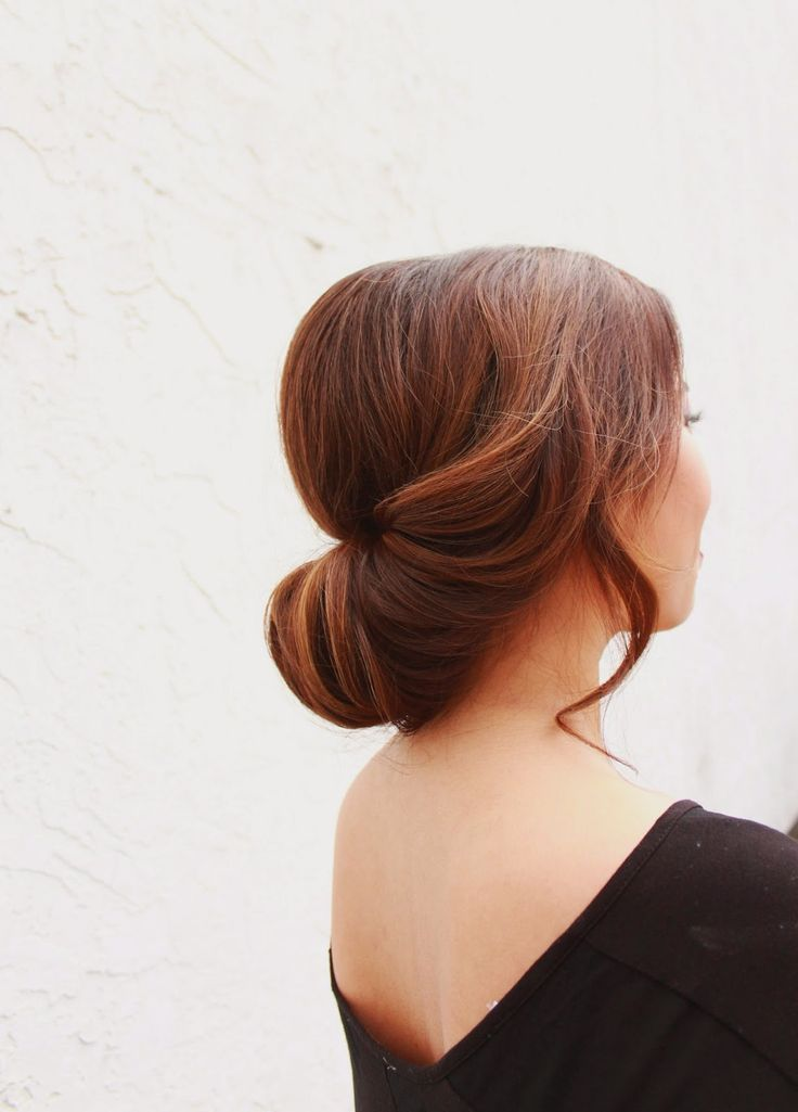 Simple updo hairstyles pinterest - Chignon simple mariage ...