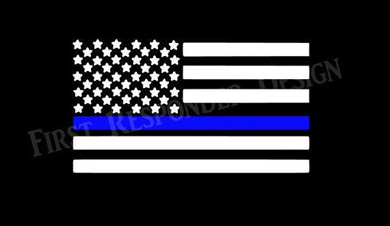 Thin Blue Line Decal Police Decal Blue Lives Matter Law
