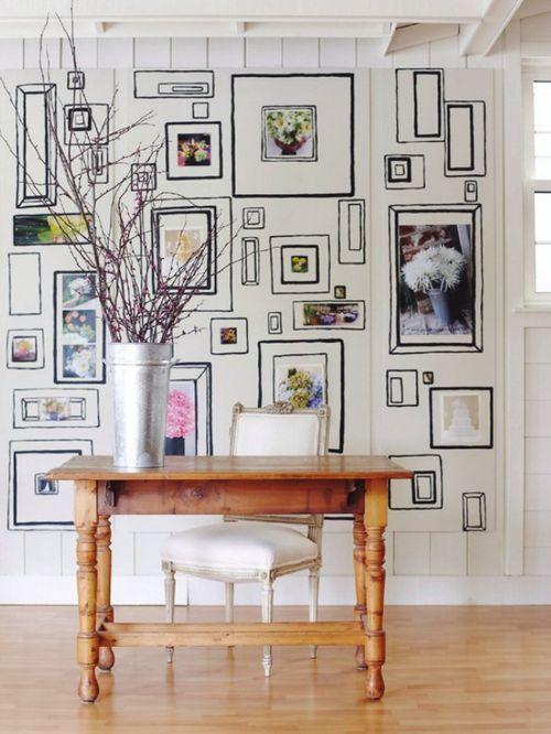 wallpaper: Decor, Interior, Ideas, Inspiration, Frames, House, Gallery Wall, Art Wall, Room