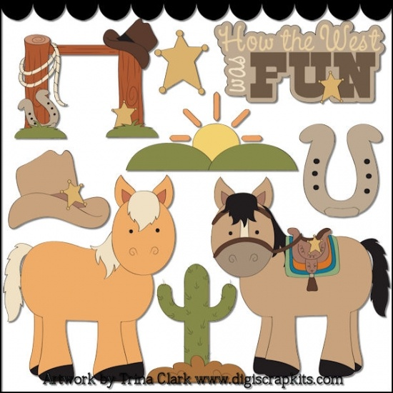 How The West Was Fun 1 - Non-Exclusive Clip Art