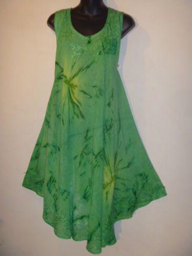 Dress Fits 1x 2X 3X 4X Plus Long Tunic Top Lagenlook Sundress Green Jumper 3001   eBay