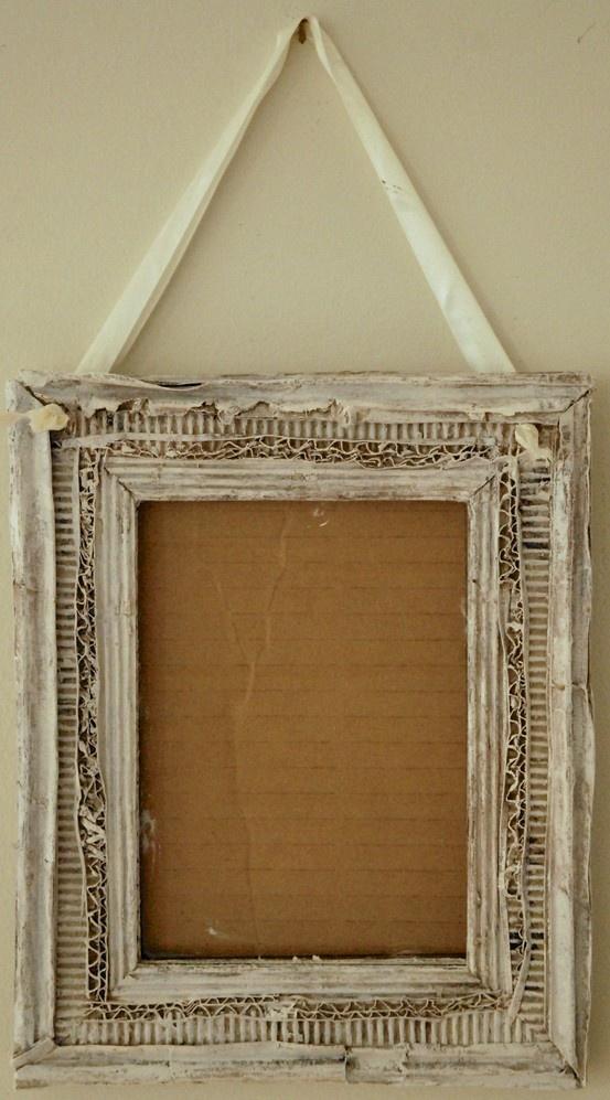 cardboard frame handmade by Dominique Ghyslaine Beroard