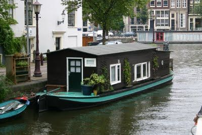 a houseboat for living, in Amsterdam; #houseboats