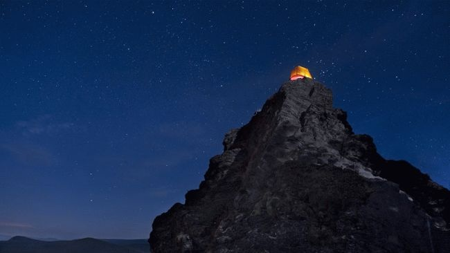The Portland-based photographer captures a tent at Larch Mountain, an extinct volcano, near Portland, Ore. (Ben Canales)