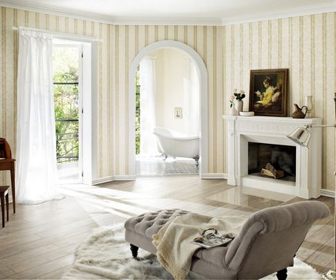 Papel pintado rasch trianon 512908 estilo por menos de 40 - Fotos salones pintados ...