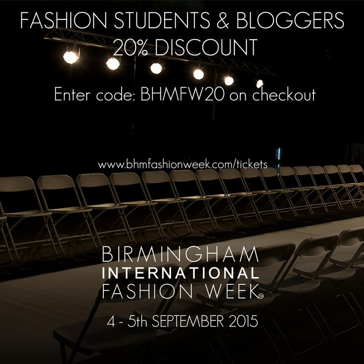 Fashion Students, Bloggers and Fashionistas come and see the SS16 Collection shows this weekend!