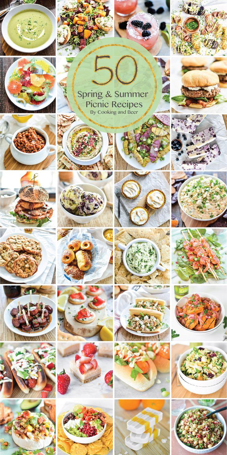 50 Summer Picnic Recipes   www.cookingandbeer.com