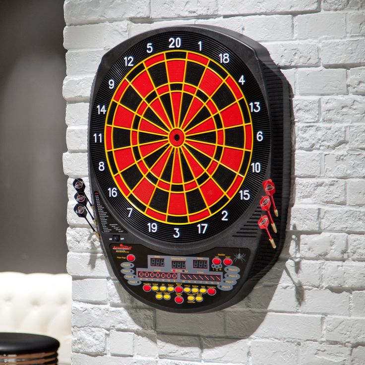 Arachnid® Inter-Active 6000 Electronic Dart Board and Darts Set | from hayneedle.com