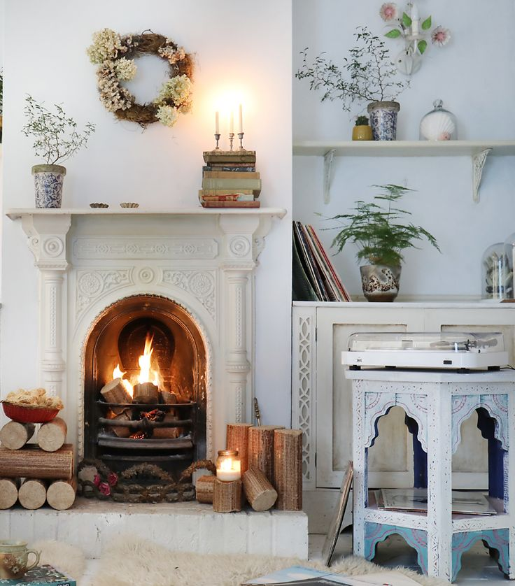 Hygge of the senses - with Lenco and Lekto a blog post by Janice Issitt Life & Style. fire, rugs, sounds, turntable, plants, candles, cosy and warm