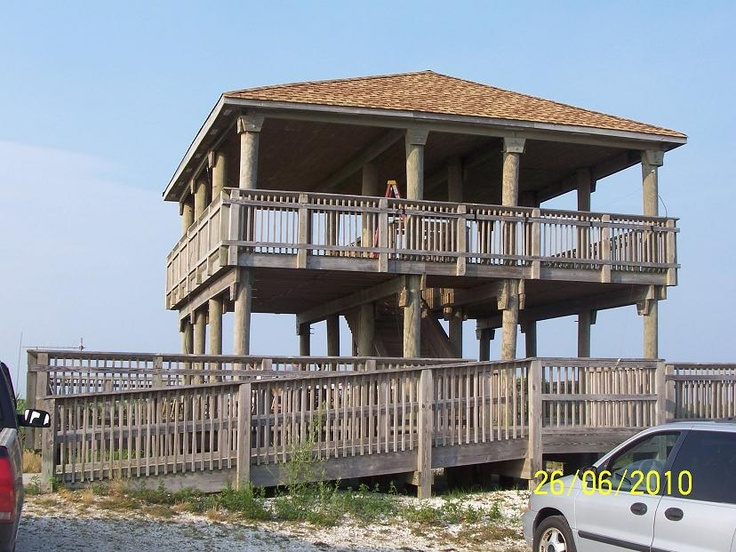 Observation tower at the North End of Brigantine Island.