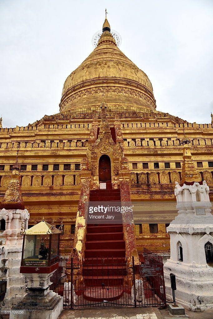 Shwe zi gon paya terracotta Temple, Bagan, unesco ruins Myanmar. Asia. #getty #photographe #photo #image  #images #temple #boudhisme  #religion #gold #stupa #photographie #or #ancien#histoire #unesco